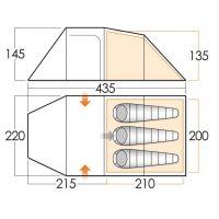 Carpa beta 350 xl dimensiones
